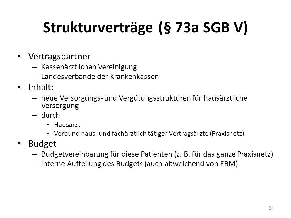 Strukturverträge (§ 73a SGB V)