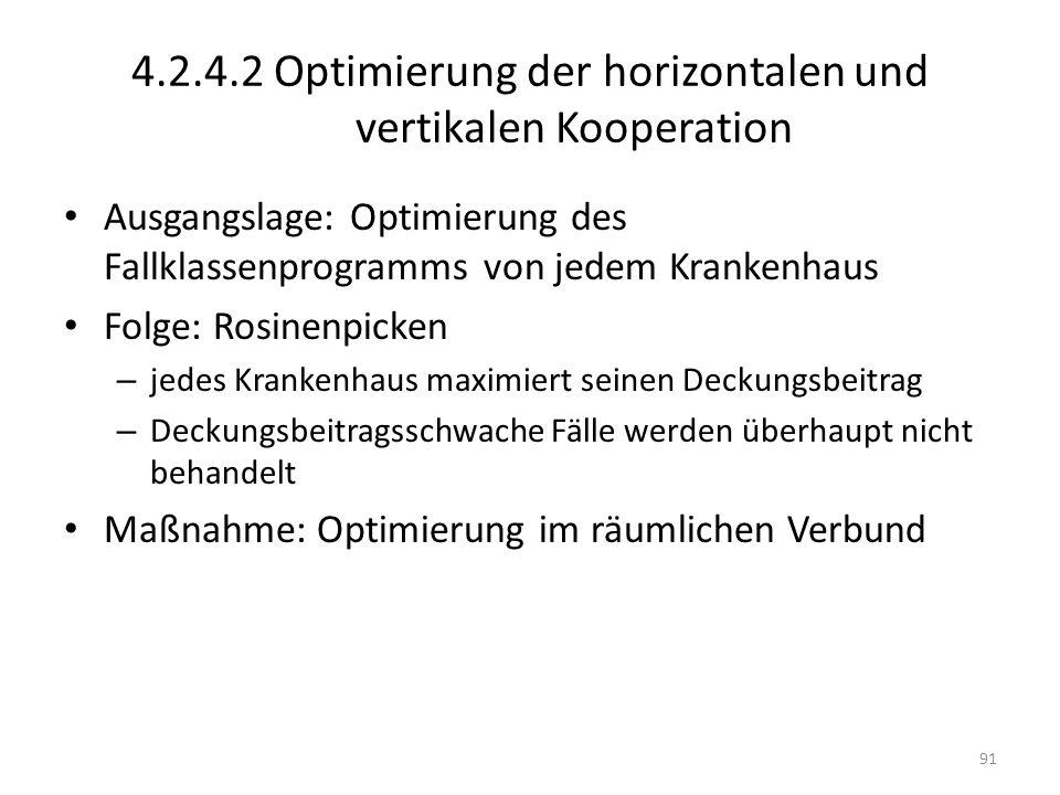4.2.4.2 Optimierung der horizontalen und vertikalen Kooperation
