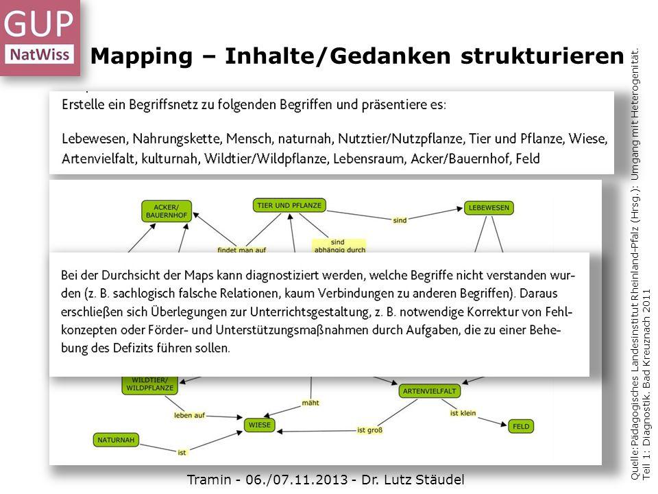 Mapping – Inhalte/Gedanken strukturieren