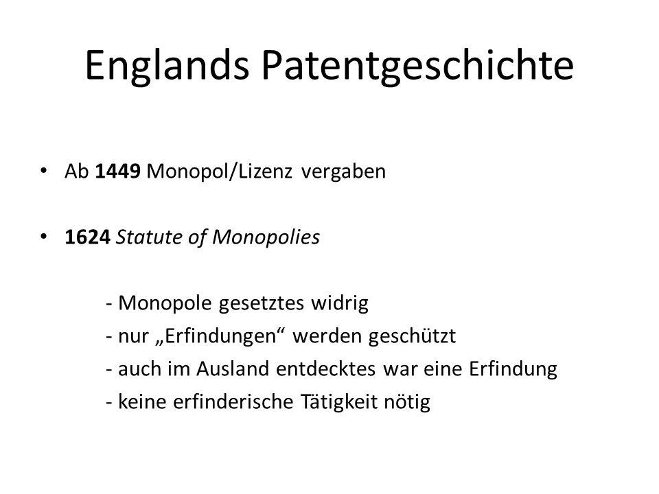 Englands Patentgeschichte