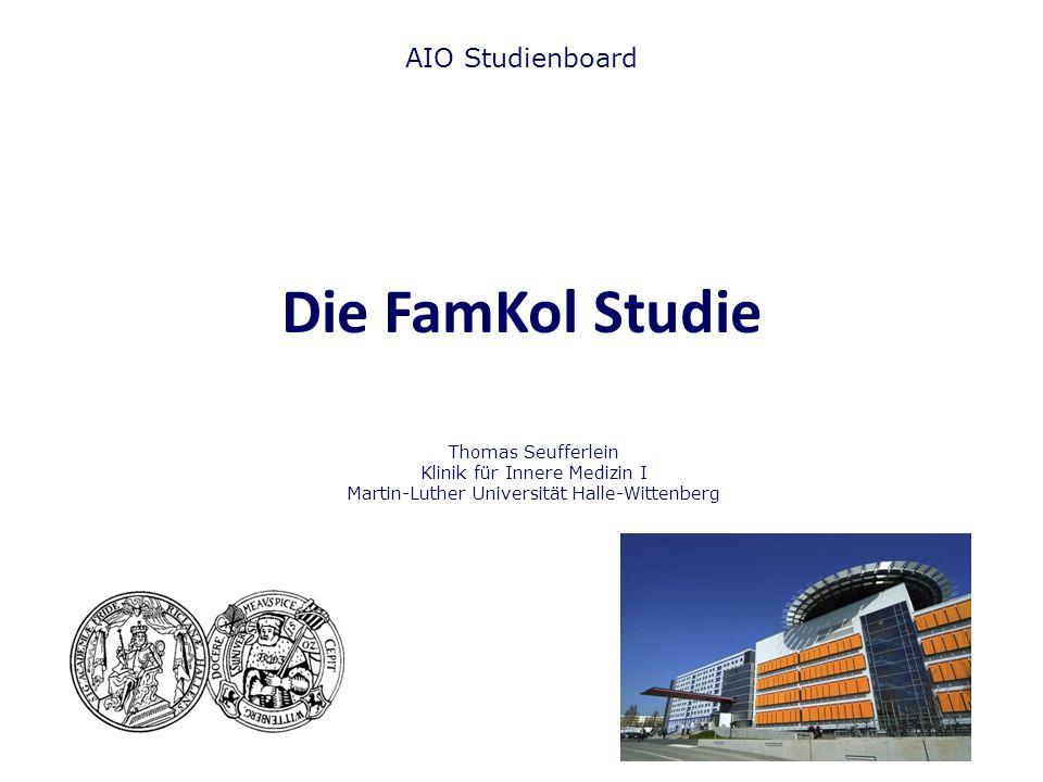 Die FamKol Studie AIO Studienboard Thomas Seufferlein