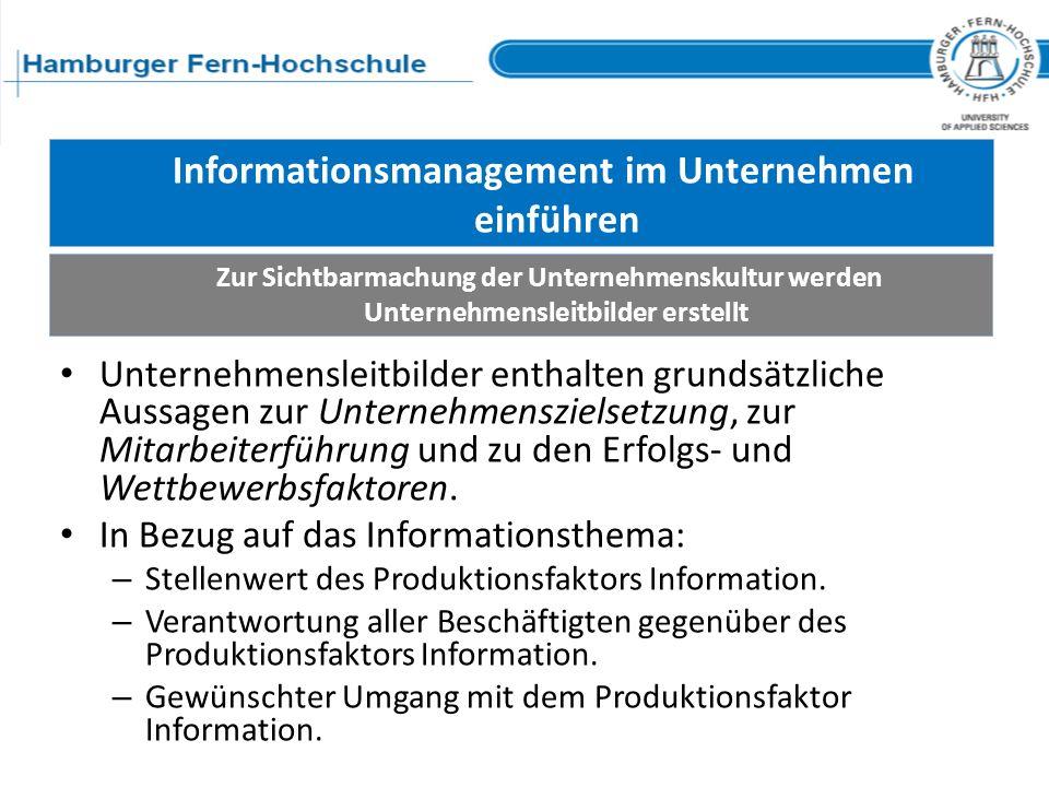 Informationsmanagement im Unternehmen einführen