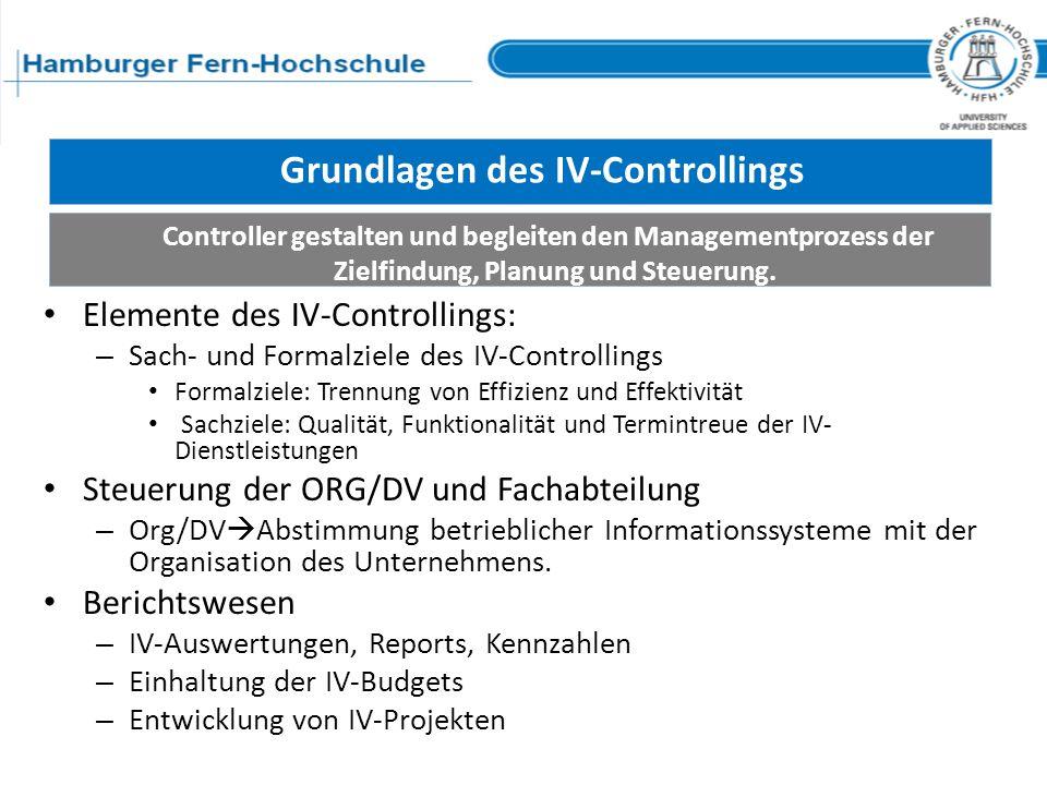 Grundlagen des IV-Controllings