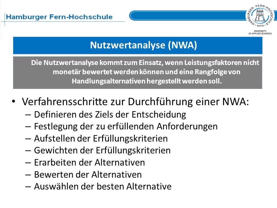 Nutzwertanalyse (NWA)