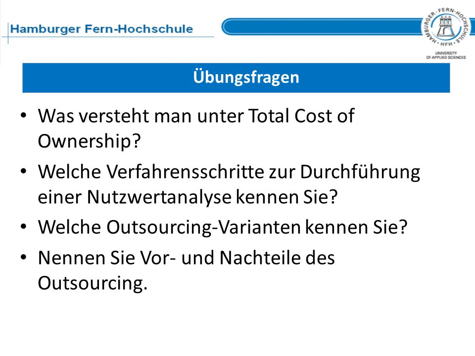 Was versteht man unter Total Cost of Ownership