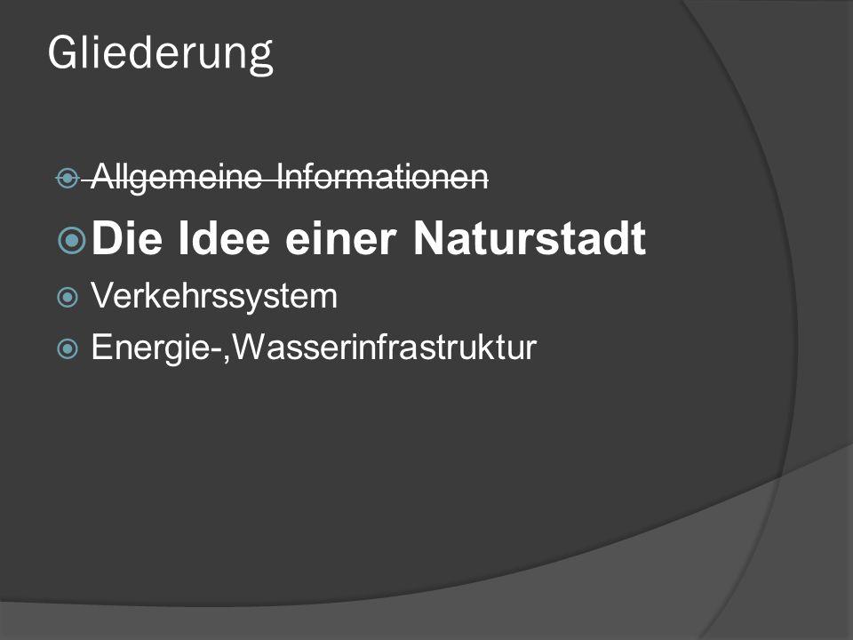 Gliederung Die Idee einer Naturstadt Allgemeine Informationen