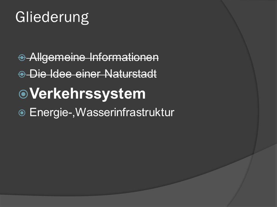 Gliederung Verkehrssystem Allgemeine Informationen
