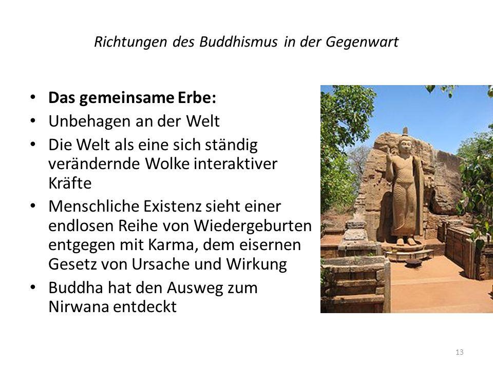Richtungen des Buddhismus in der Gegenwart