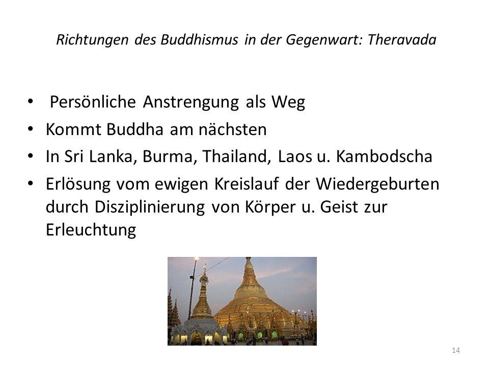 Richtungen des Buddhismus in der Gegenwart: Theravada