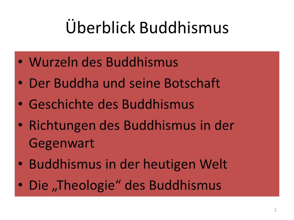 Überblick Buddhismus Wurzeln des Buddhismus