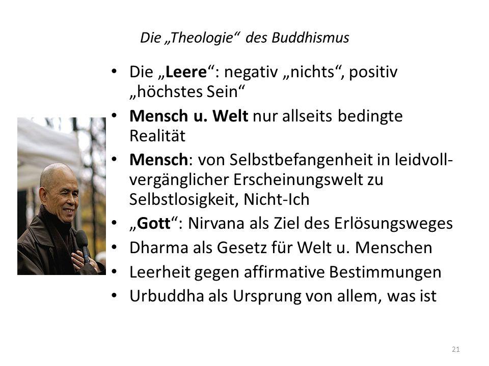 """Die """"Theologie des Buddhismus"""