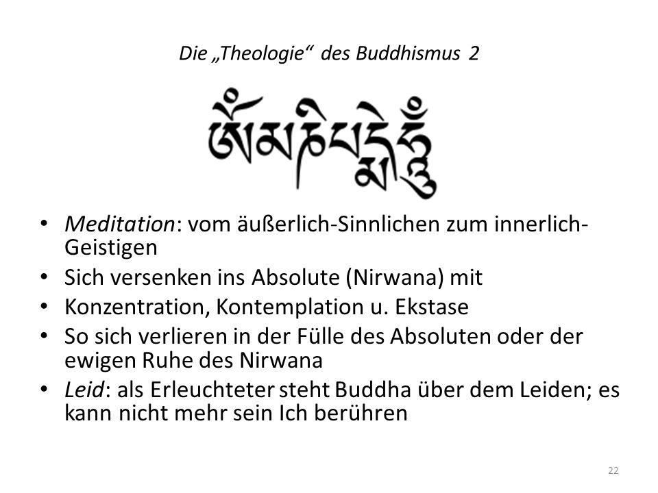 """Die """"Theologie des Buddhismus 2"""