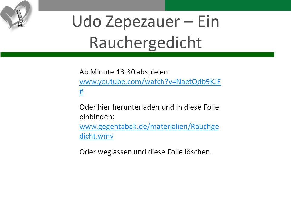 Udo Zepezauer – Ein Rauchergedicht