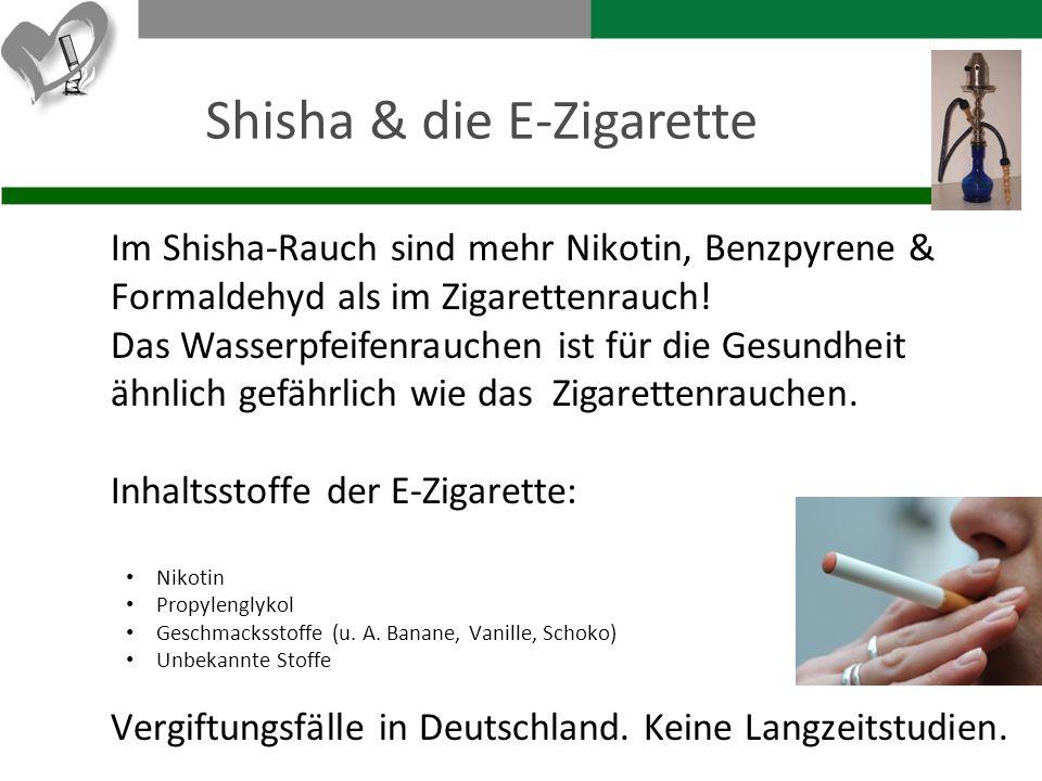 Shisha & die E-Zigarette
