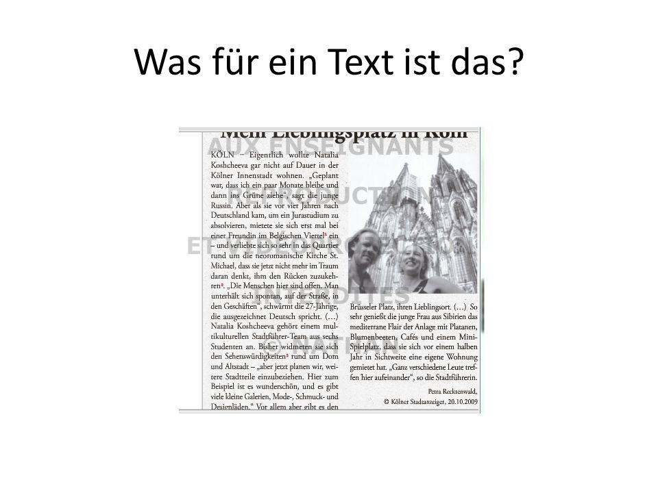 Was für ein Text ist das
