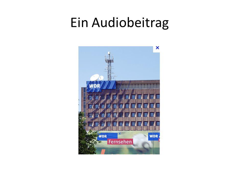 Ein Audiobeitrag