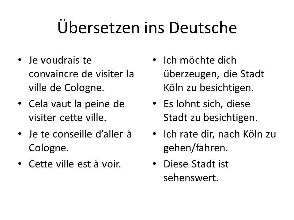 Übersetzen ins Deutsche