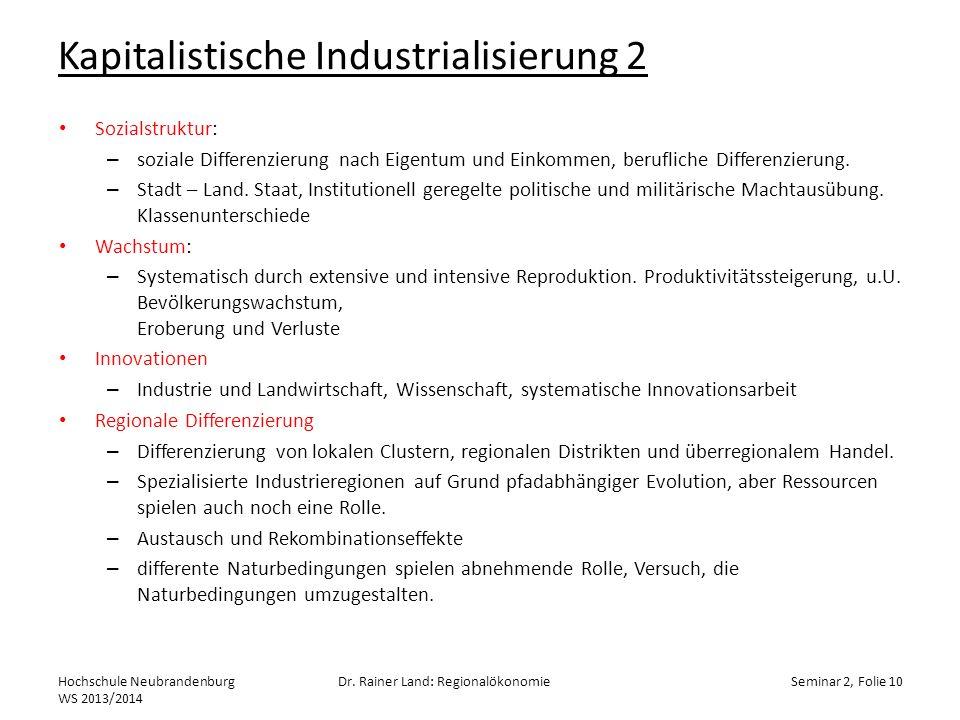 Kapitalistische Industrialisierung 2