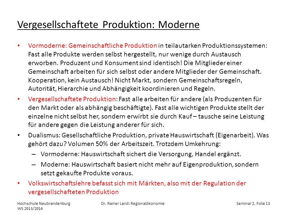 Vergesellschaftete Produktion: Moderne