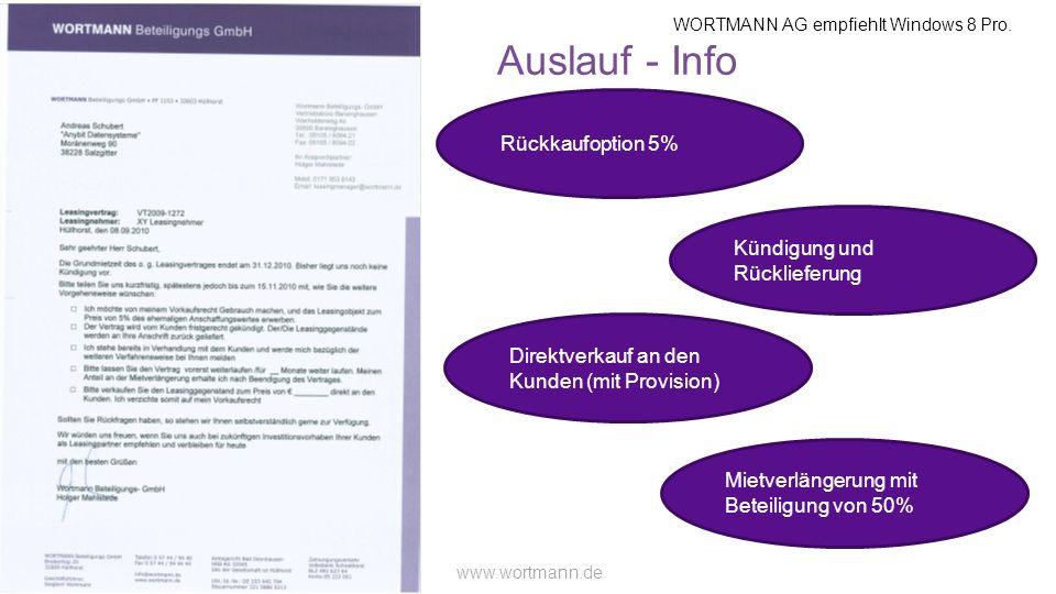 Auslauf - Info Rückkaufoption 5% Kündigung und Rücklieferung