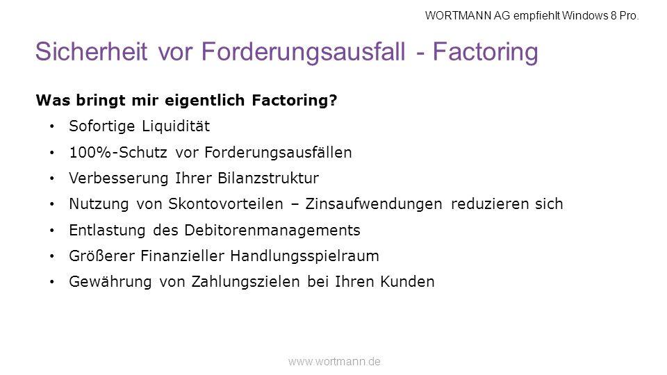 Sicherheit vor Forderungsausfall - Factoring