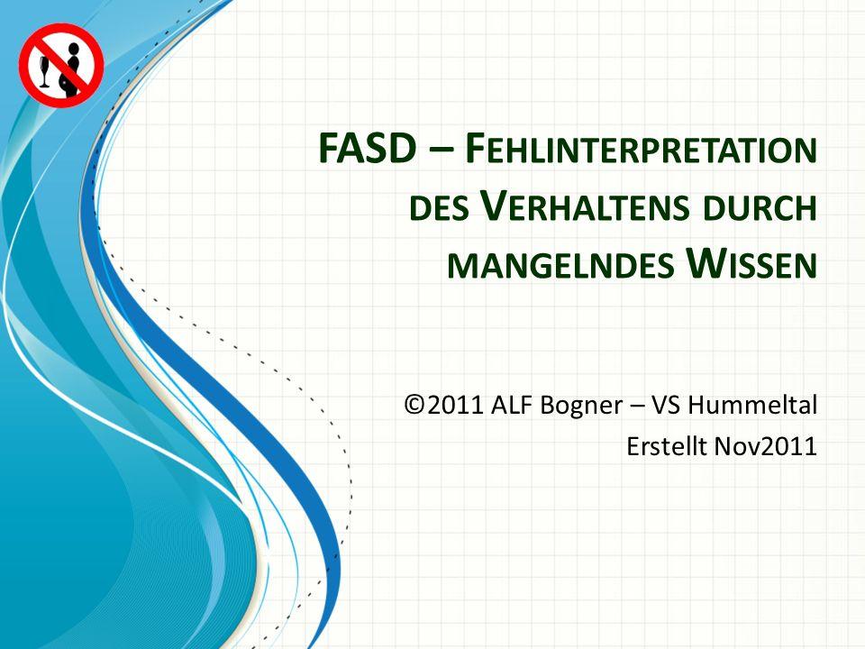 FASD – Fehlinterpretation des Verhaltens durch mangelndes Wissen