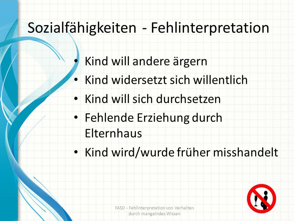 Sozialfähigkeiten - Fehlinterpretation