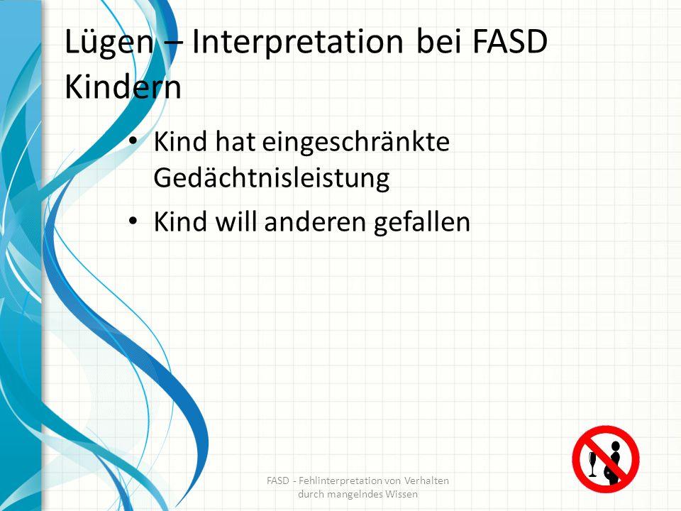 Lügen – Interpretation bei FASD Kindern