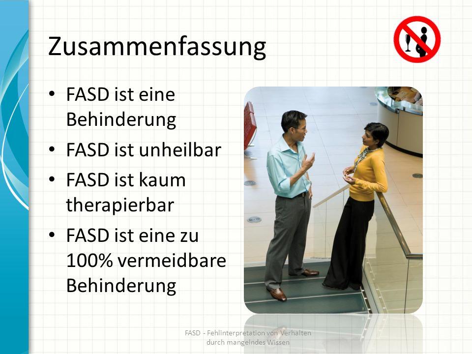 FASD - Fehlinterpretation von Verhalten durch mangelndes Wissen
