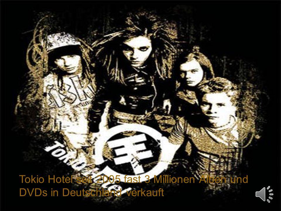 Tokio Hotel seit 2005 fast 3 Millionen Alben und DVDs in Deutschland verkauft
