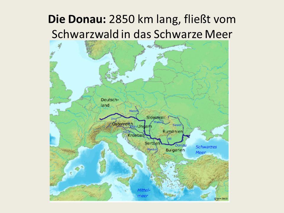 Die Donau: 2850 km lang, fließt vom Schwarzwald in das Schwarze Meer