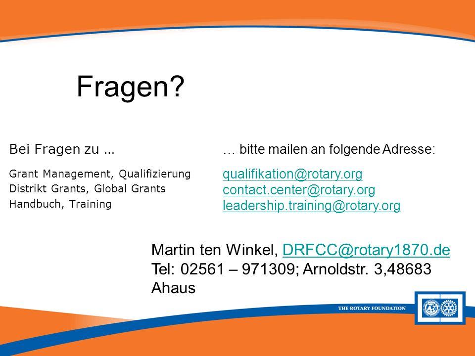 Fragen Martin ten Winkel, DRFCC@rotary1870.de