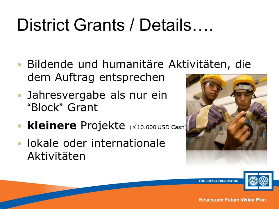 District Grants / Details….
