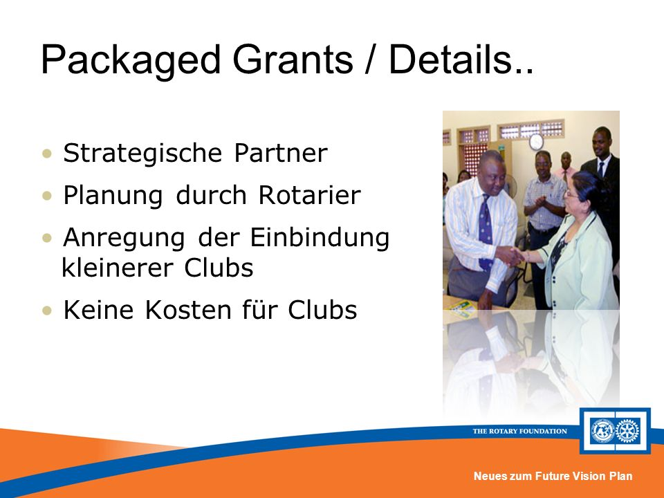 Packaged Grants / Details..