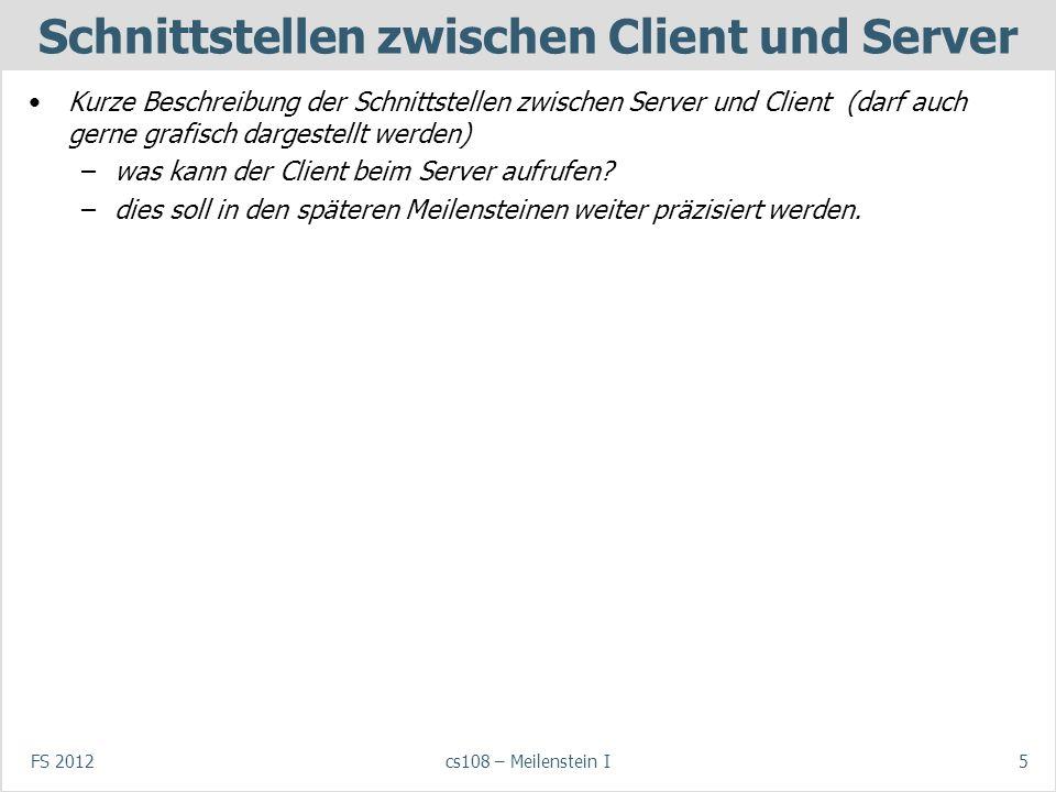 Schnittstellen zwischen Client und Server