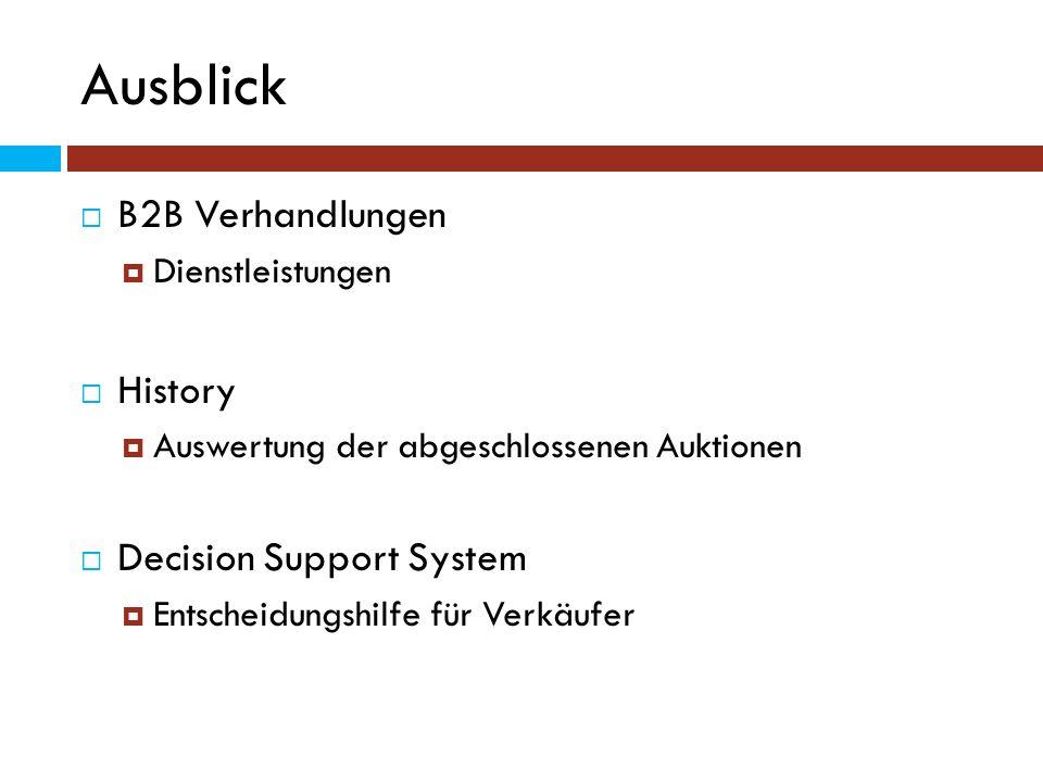 Ausblick B2B Verhandlungen History Decision Support System