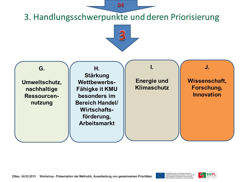 3 3. Handlungsschwerpunkte und deren Priorisierung DE I.