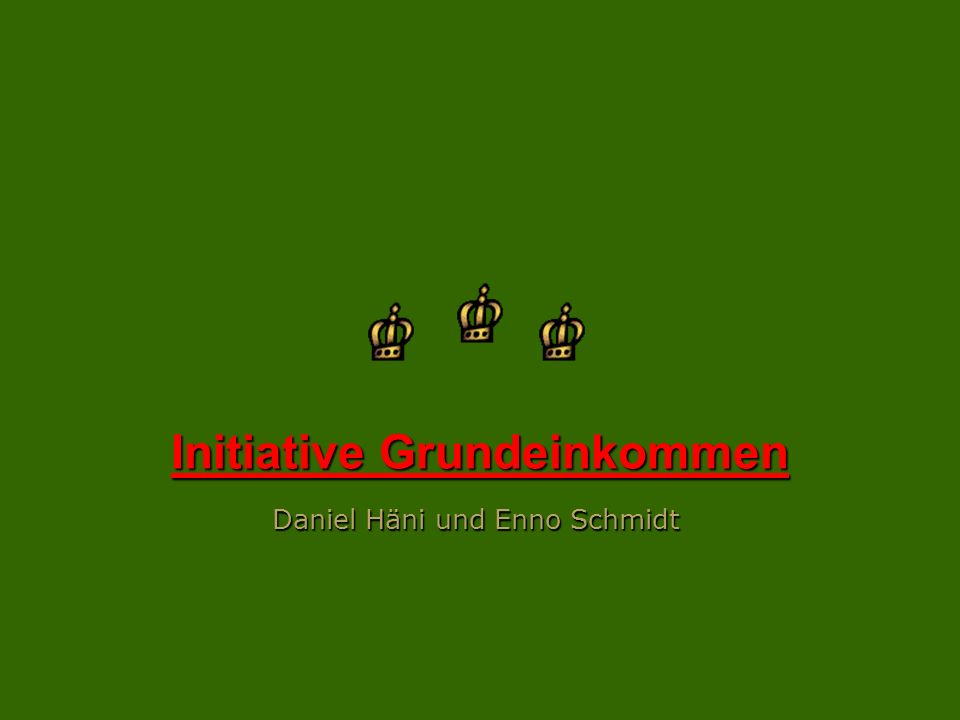 Initiative Grundeinkommen