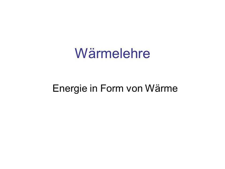 Energie in Form von Wärme