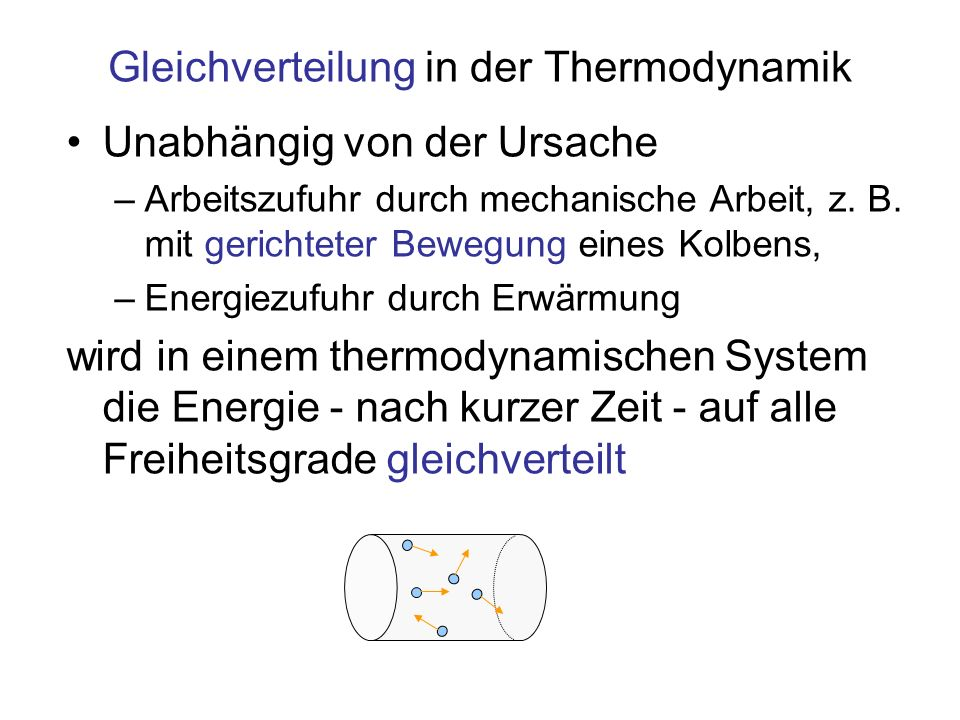 Gleichverteilung in der Thermodynamik