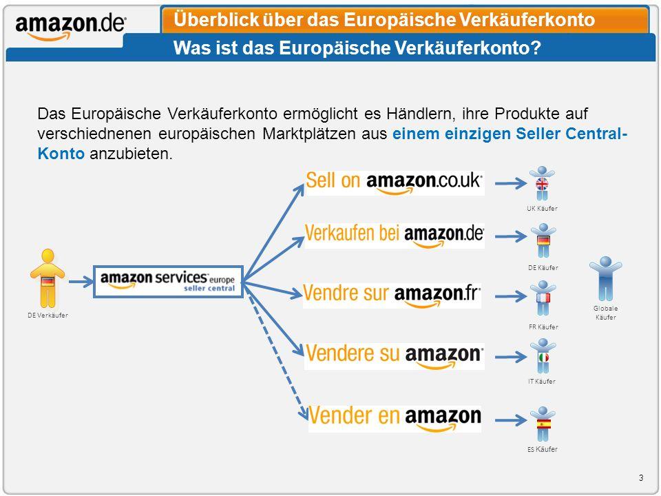Überblick über das Europäische Verkäuferkonto