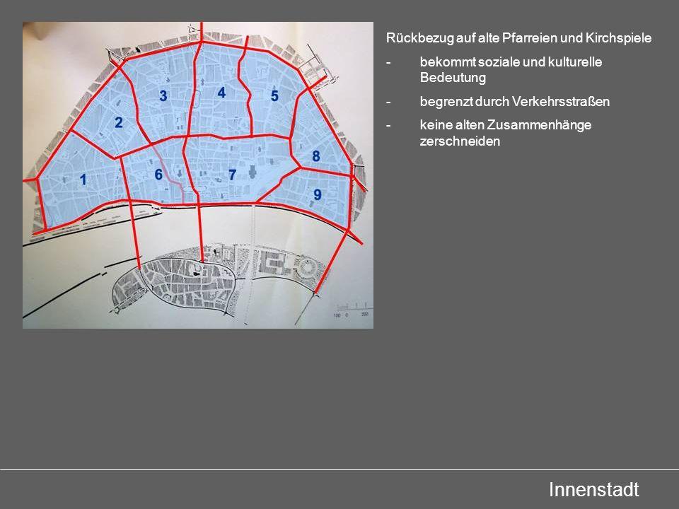 Innenstadt Rückbezug auf alte Pfarreien und Kirchspiele