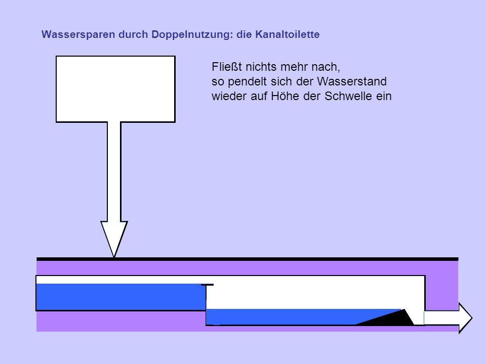 Wassersparen durch Doppelnutzung: die Kanaltoilette