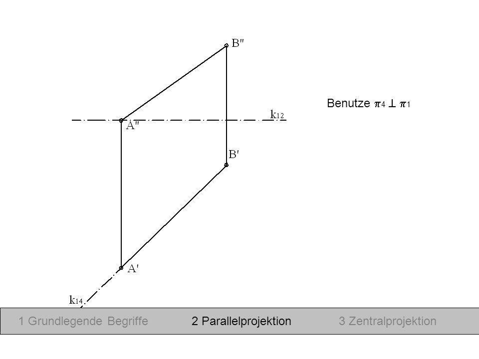 Benutze 4  1 1 Grundlegende Begriffe 2 Parallelprojektion 3 Zentralprojektion