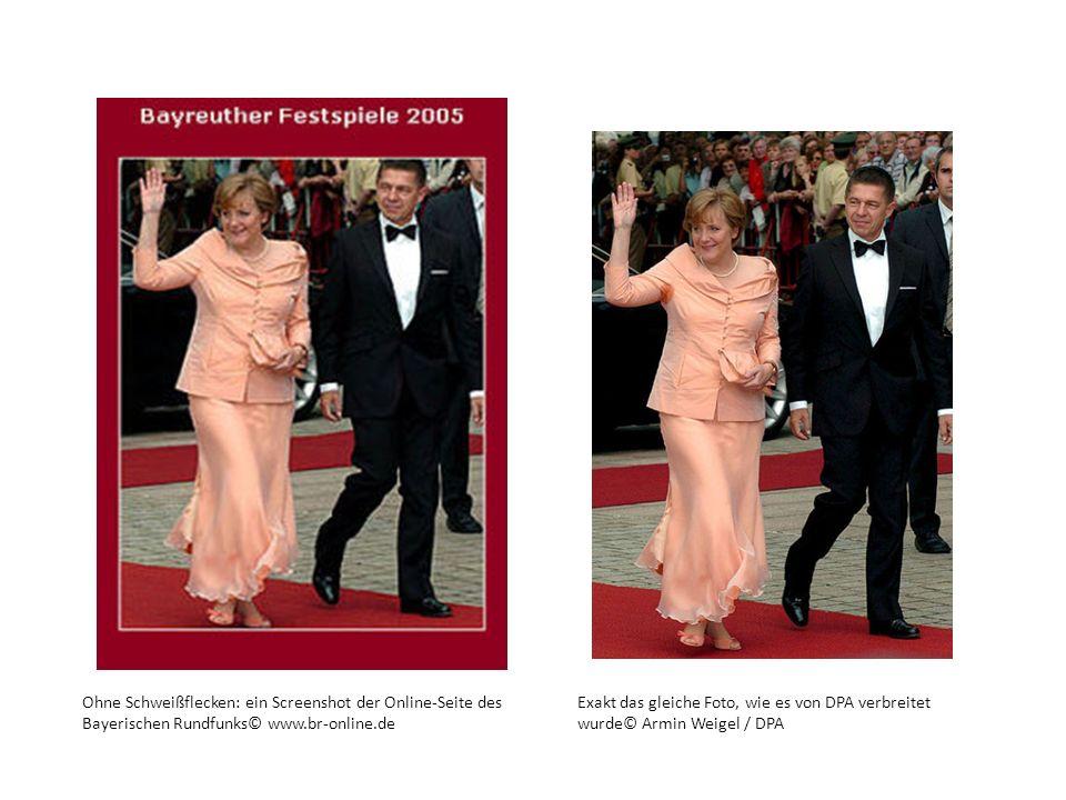 Ohne Schweißflecken: ein Screenshot der Online-Seite des Bayerischen Rundfunks© www.br-online.de
