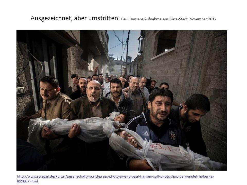 Ausgezeichnet, aber umstritten: Paul Hansens Aufnahme aus Gaza-Stadt, November 2012