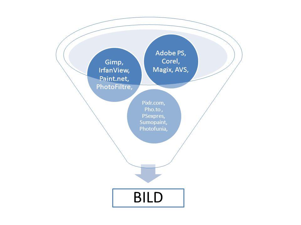 BILD Pixlr.com, Pho.to , PSexpres, Sumopaint, Photofunia,