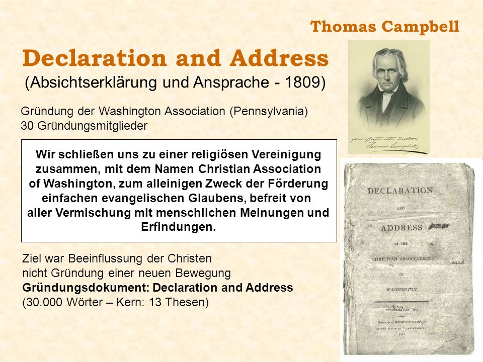 Declaration and Address