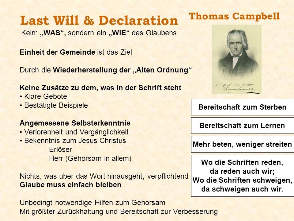 Last Will & Declaration