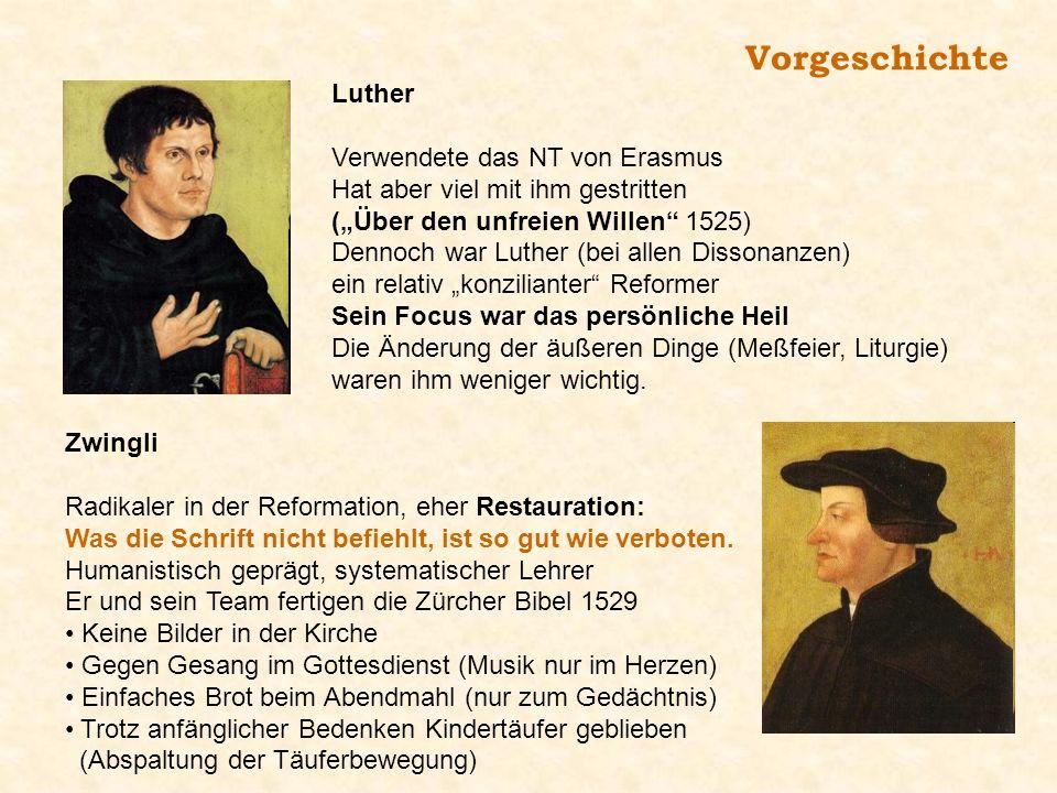 Vorgeschichte Luther Verwendete das NT von Erasmus